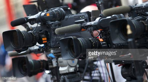 Media video camera's are trained on the door of The Lindo Wing of Saint Mary's Hospital in Paddington west London on July 21 2013 There's still no...