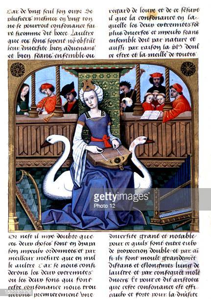 Mediaeval music scene Middle Age FranceParis Bibliotheque Nationale
