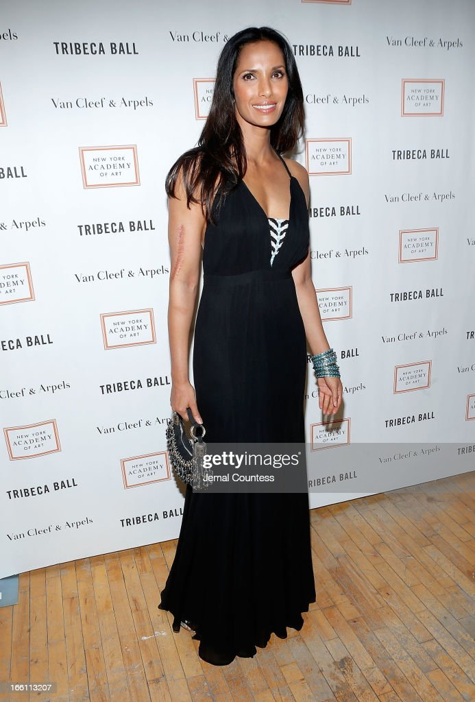 Media/TV personality Padma Lakshmi attends the 2013 Tribeca Ball at New York Academy of Art on April 8, 2013 in New York City.