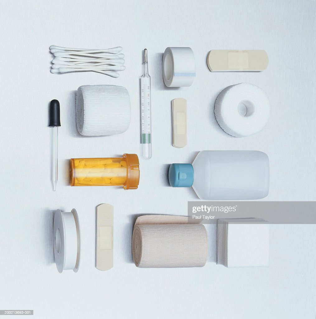Medical and first aid supplies : Stock Photo