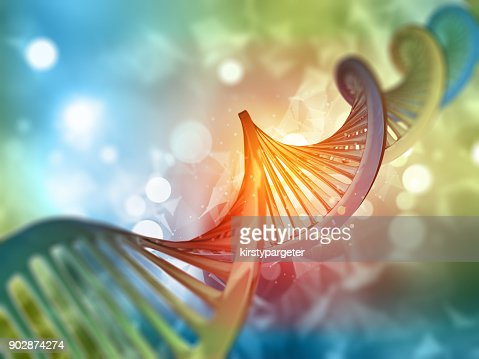 3D medical background with DNA strand : Stock Photo