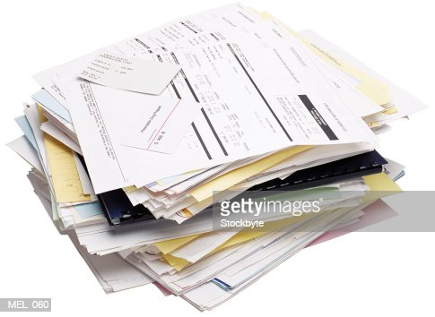 Medical bills and receipts