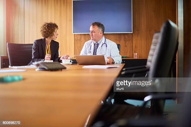 Medizinische business Geschäftsbeziehung