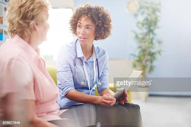 medical chat with patient