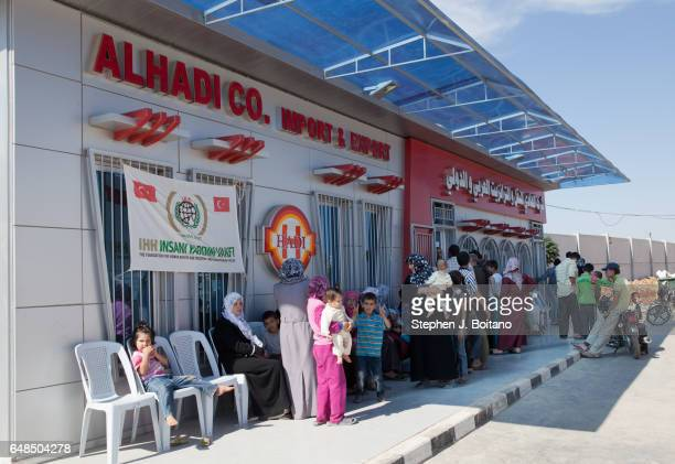 A'ZAZ ALEPPO SYRIA A medical clinic at the Syrian refugee camp at the border with Turkey in A'zaz Syria