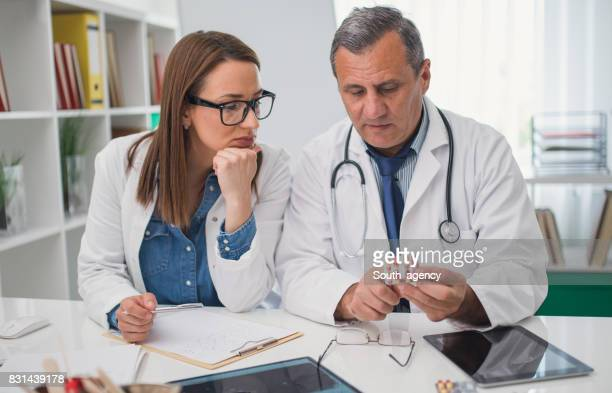 Medical colleagues in the office