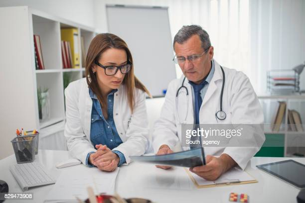 Medical colleagues working together
