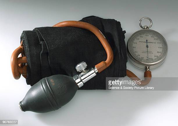 Medical device used for measuring blood pressure Made by C F Thackray Leeds Sphygmomanometers were invented in the 19th century but were not commonly...