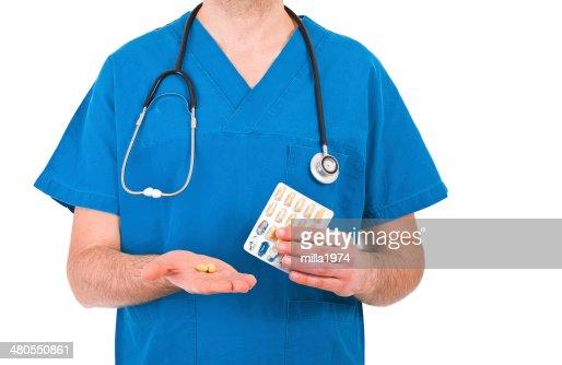 Médico médico. : Foto de stock