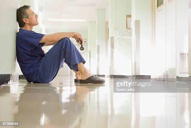 A medical doctor resting