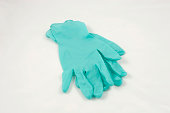 isolated medical gloves