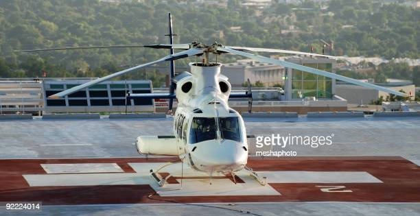Medical Helicopter ready for emergency