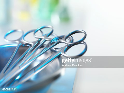 Medical instruments in tray