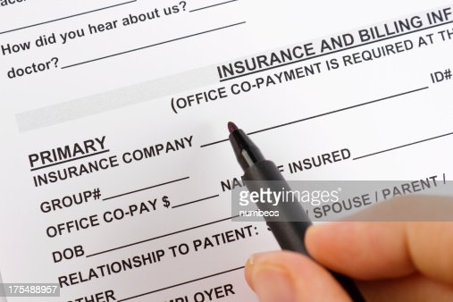 Medical Insurance Claim Form Stock Photo | Getty Images