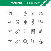 Medical line icons. Icons for web or mobile interfaces.