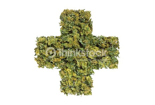 Medical Marijuana Cross Symbol Stock Photo Thinkstock