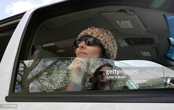 Medical marijuana user Angel Raich sits in a car to keep warm before attending a marijuana rights demonstration April 20 2007 in Missoula Montana...