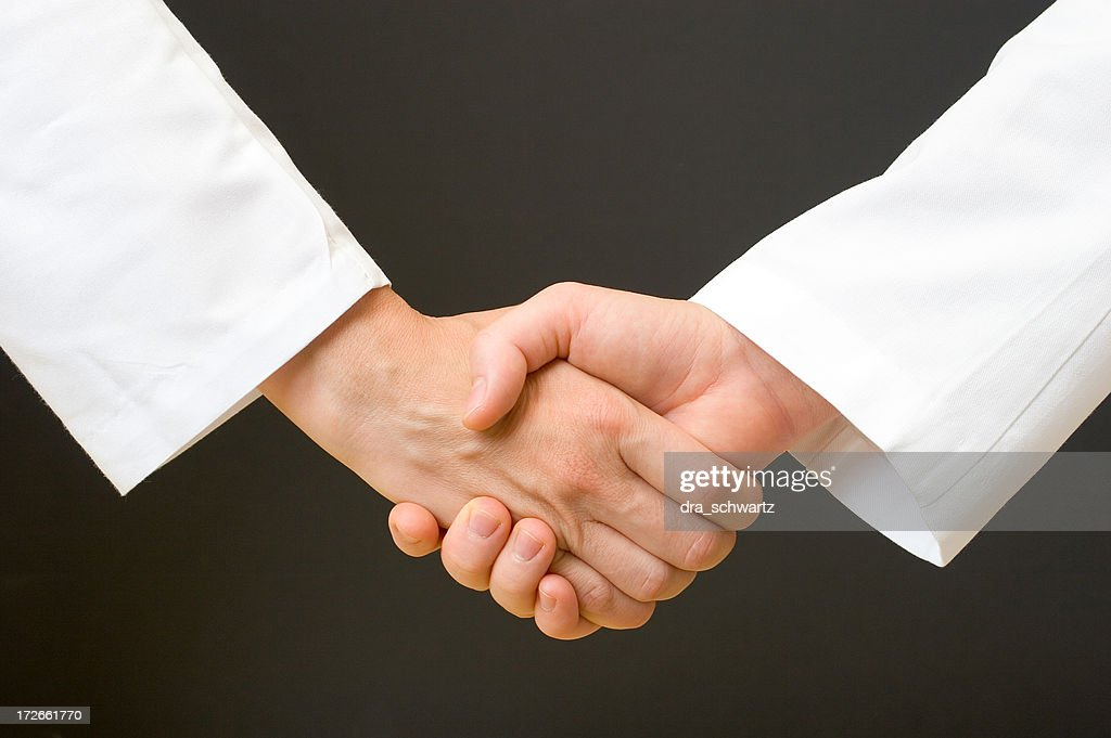 Medical people handshake