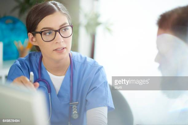 medical professional in meeting