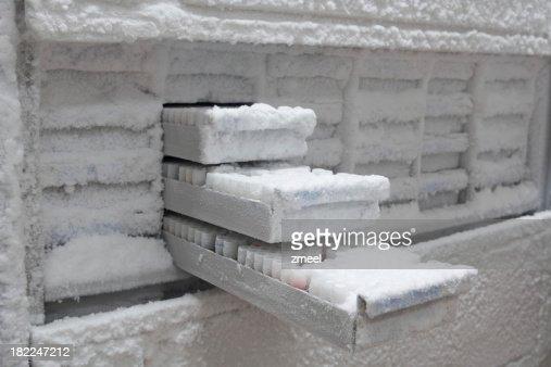 Medical samples in -80° C freezer