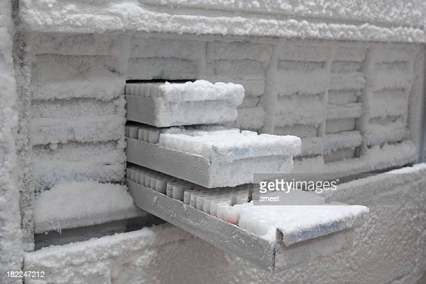 Medical samples in -80° C freezer