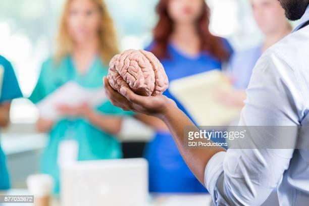Medical school professor teaches about human brain