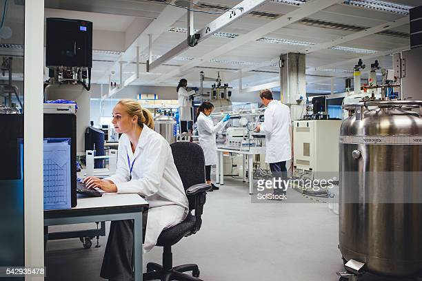 Medical Science Professionals Working in a Laboratory