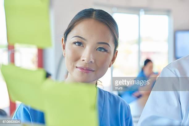 medical team brainstorming