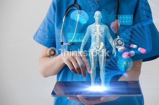 Medizintechnik-Konzept. Elektronische Patientenakte. : Stock-Foto