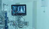Medical technology concept. Medical instruments.