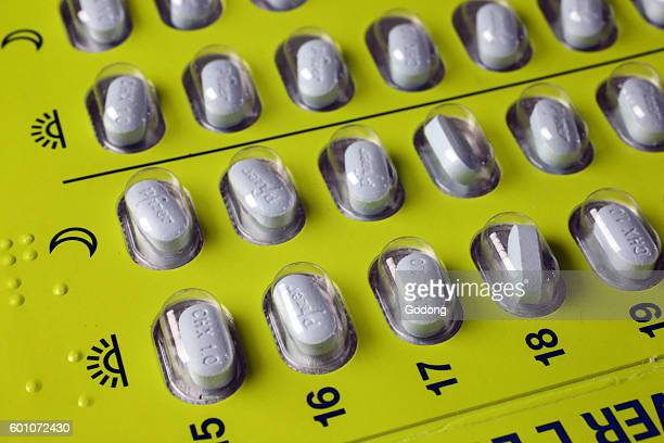 Medical treatments Pills in blister pack
