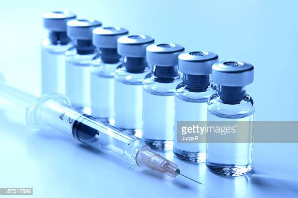 Medical Vials et une Seringue-Vaccination Concepts série