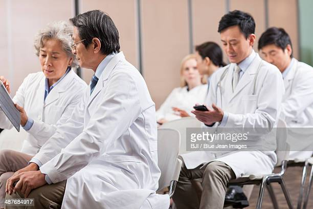 Medical workers waiting for meeting