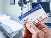 Medicare Health Insurance Card in medical office