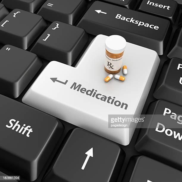 Medikamente Eingabetaste