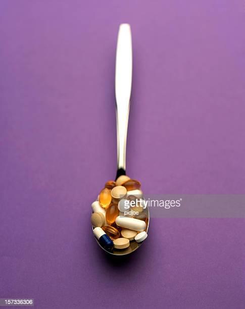 medication on spoon