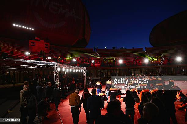 Medici Senza Frontiere attend the red carpet during the 10th Rome Film Fest on October 23 2015 in Rome Italy