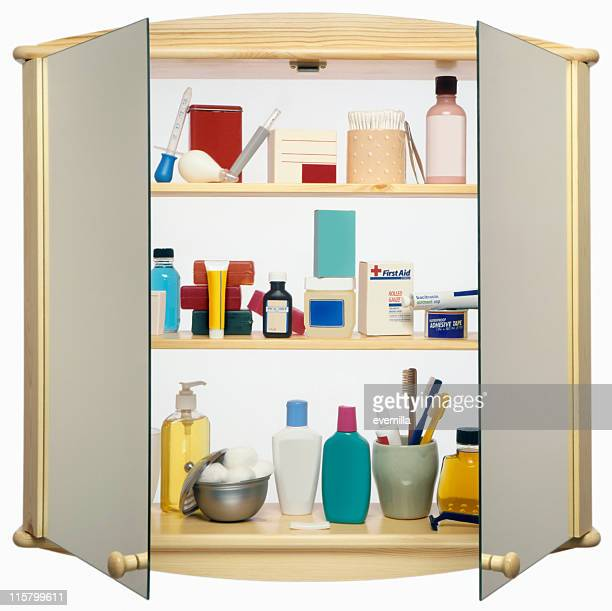 Medicine Cabinet cut out on white