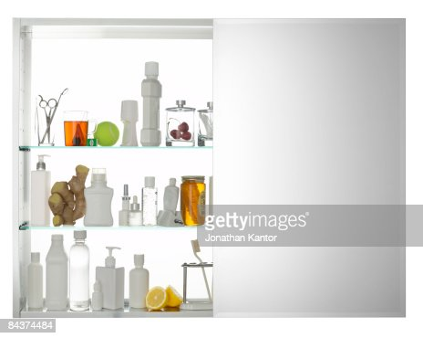 Medicine Cabinet with Mirror : Stock Photo