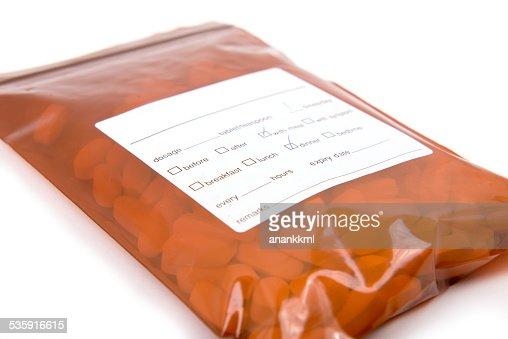 medicine in the bag : Stock Photo