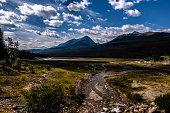 Medicine Lake is located within Jasper National Park, Alberta, Canada.