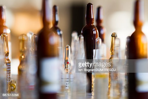 Medicine vials : Stock Photo
