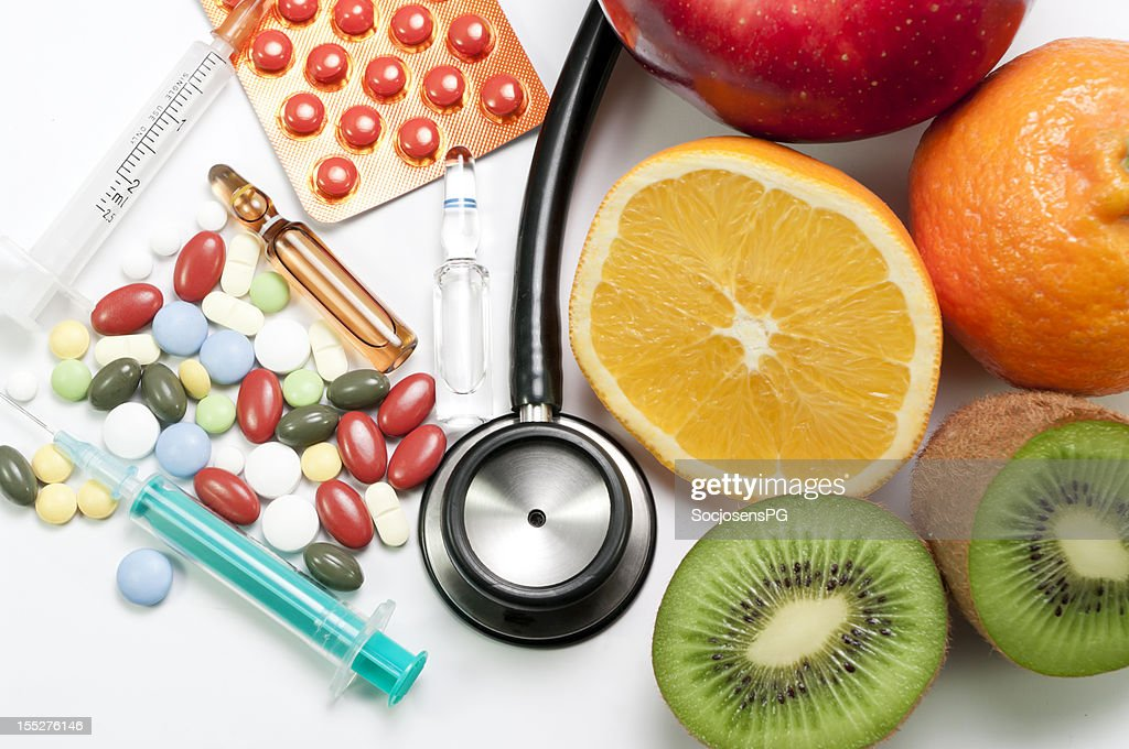 medicines and fruit