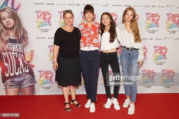 Medienboard Film Funding Veronika Grob director Ute Wieland actors Emily Kusche and Flora Li Thiemann attend the 'Tigermilch' premiere at Kino in der...