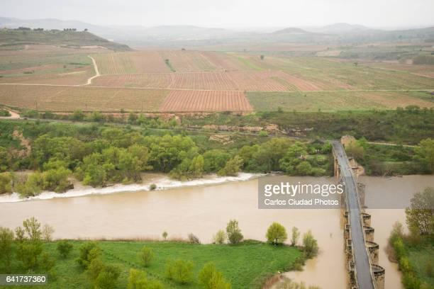 Medieval bridge over the river Ebro, San Vicente de la Sonsierra, La Rioja, Spain