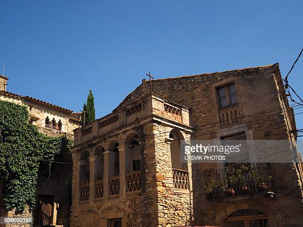 Medieval buildings in the centre of Palau-sator, Gerona