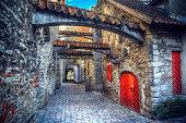 St. Catherine's Passage in Tallinn, Estonia. medieval city in Europe