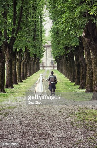 Medieval Couple Walking