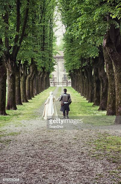 Mittelalterliche Walking für Paare