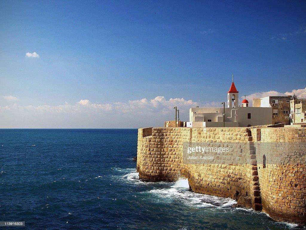Medieval harbour of Akko, Israel